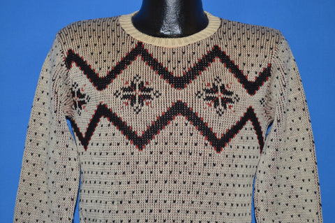 40s Puritan Snowflake High Waist Sweater Small