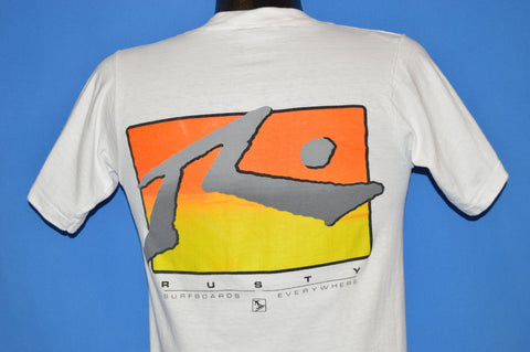 90s Rusty Surfboards Everywhere Neon t-shirt Small