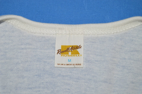 70s Russell Athletic Deadstock Royal Blue Henley t-shirt Small