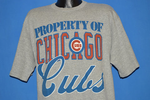 80s Property Of Chicago Cubs MLB t-shirt Large