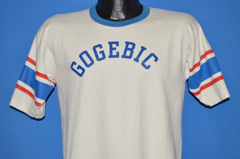 70s Gogebic Community College Ringer t-shirt Medium