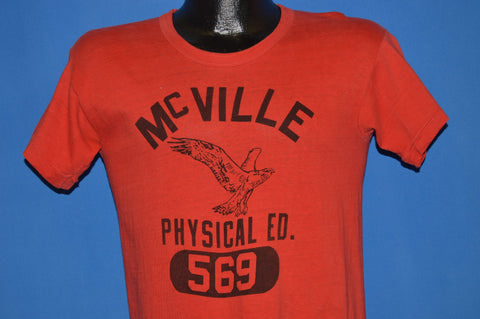 50s McVille High School Phys Ed Distressed t-shirt Small