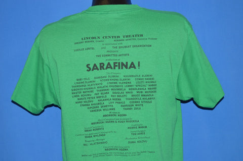 80s Sarafina! The Music Of Liberation 1987 t-shirt Large