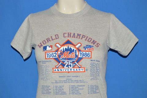 80s New York Mets 1986 World Champs t-shirt Youth Large