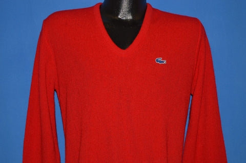 80s Izod Lacoste V Neck Sweater Small