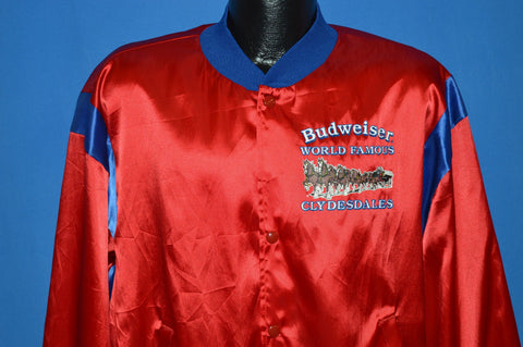 80s Budweiser World Famous Clydesdales Jacket Large