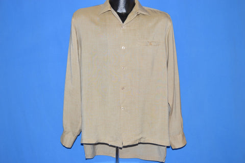 50s Loop Collar Button Down Rockabilly Shirt Large