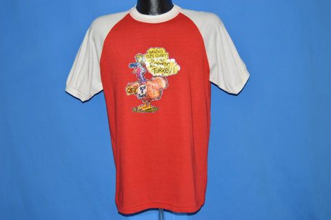 80s One Terrific Turkey Iron On t-shirt Large