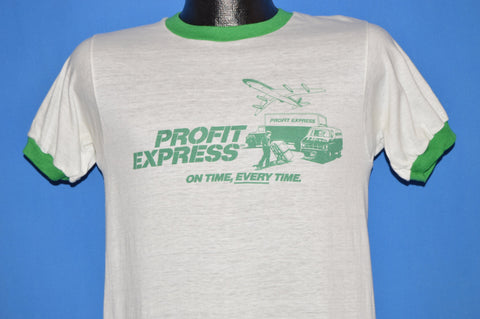 80s Profit Express On Time Every Time t-shirt Small