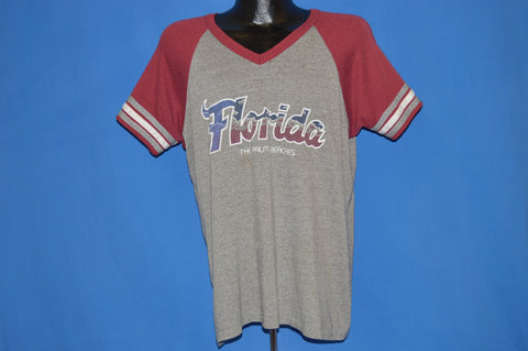 80s Florida The Palm Beaches V-Neck t-shirt Extra Large