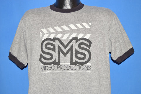 80s SMS Video Productions Ringer t-shirt Large