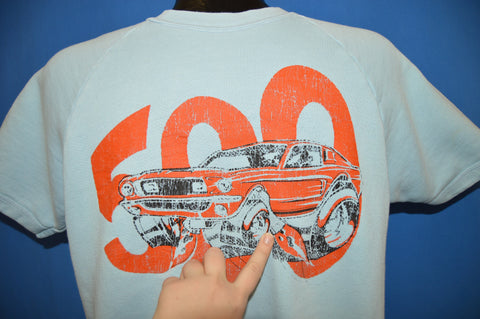 60s Shelby Mustang GT 500 Short Sleeve Sweatshirt Large