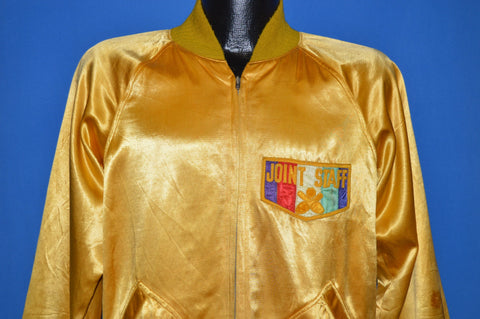 60s Joint Staff Reversible Satin Bowling Jacket Medium