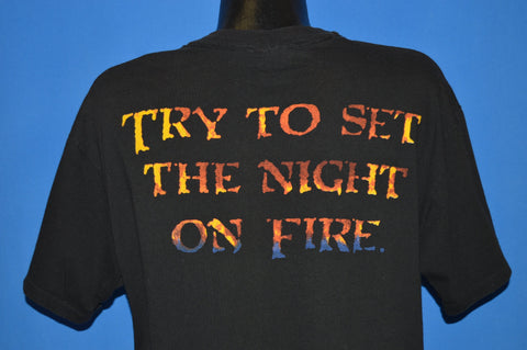 90s Jim Morrison Set The Night On Fire t-shirt Extra Large