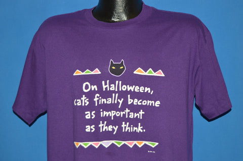 80s On Halloween Cats Become Important t-shirt Large