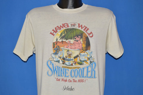 80s Hawg Wild Swine Cooler t-shirt Medium