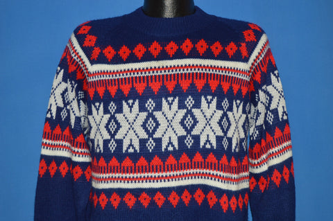 80s Kingsport Acrylic Snowflake Sweater Medium