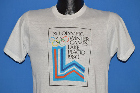 80s XIII Olympic Winter Games 1980 Deadstock t-shirt Small