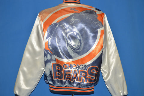 80s Chicago Bears Chalk Line Satin Jacket Medium