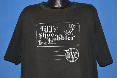 90s Jiffy Shoe Cobbler Harrisburg t-shirt XXL