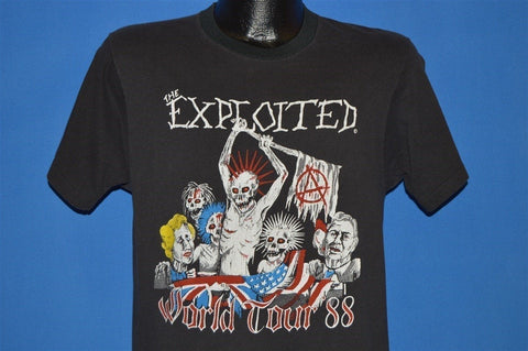 80s The Exploited World Tour 1988 T-shirt Medium
