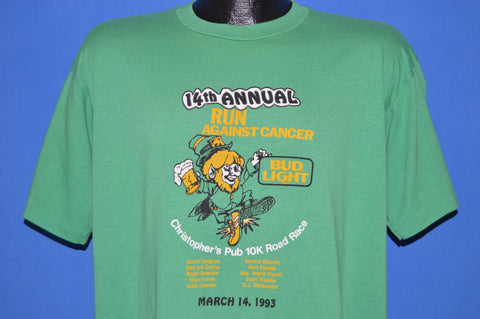 90s 14th Annual Bud Light Run Against Cancer t-shirt Extra Large