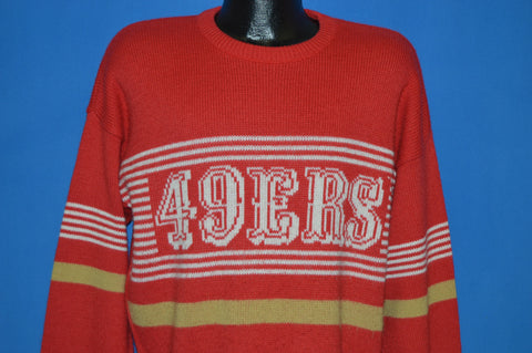 80s San Francisco 49ers Football Sweater Medium