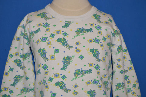 70s Horse And Buggy Pattern Sweatshirt Youth Medium
