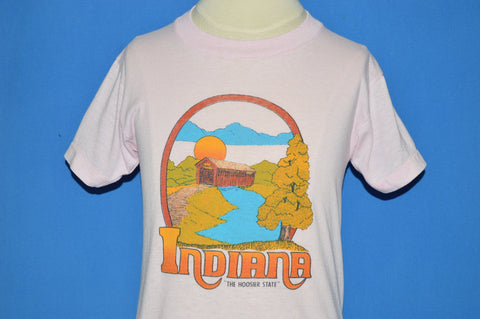 80s Indiana The Hoosier State Tourist t-shirt Youth Small