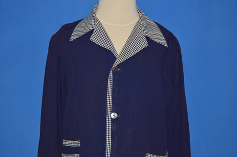 40s King Kole Togs Gingham Button Front Shirt Youth Large
