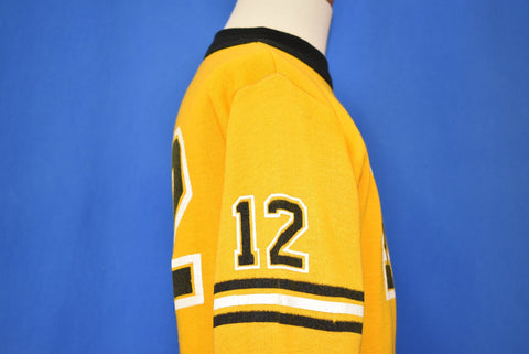 80s #13 Striped Yellow Sweatshirt Youth Small