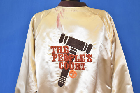 80s The People's Court Satin Jacket Large