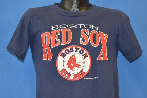 80s Boston Red Sox Logo Distressed t-shirt Youth Extra Large