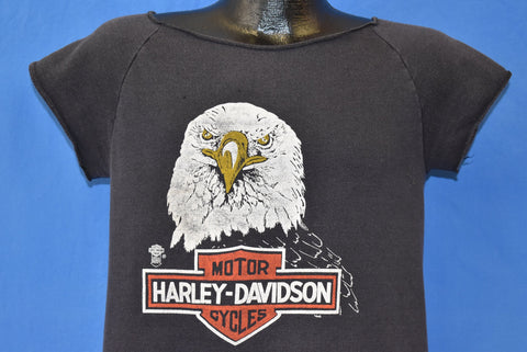 80s Harley Davidson Motorcycles Short Sleeve Sweatshirt Small