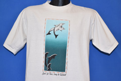 90s Don't Let Their Song Be Silenced Dolphin t-shirt Medium