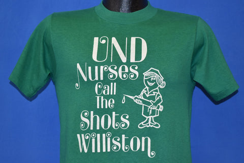 80s Nurses Call The Shots Williston State College t-shirt Small