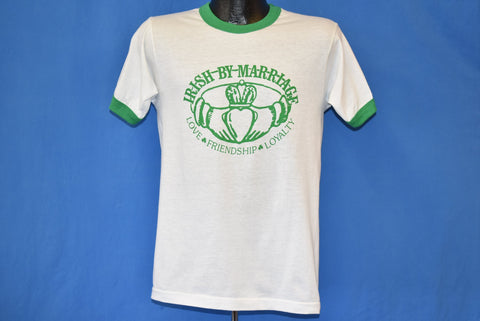 80s Irish By Marriage Claddagh Ringer t-shirt Medium