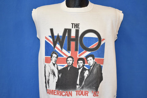 80s The Who American Tour 1982 Dsitressed Sweatshirt Medium
