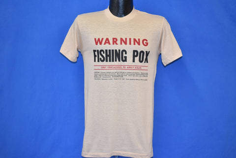 80s Warning: Fishing Pox Very Contagious t-shirt Small