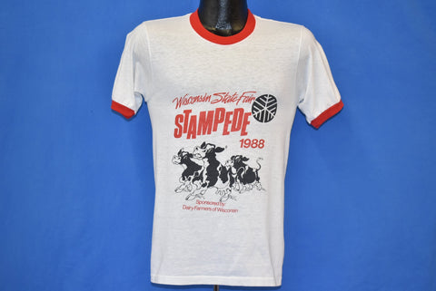 80s Wisconsin State Fair Stampede 1988 Ringer t-shirt Small