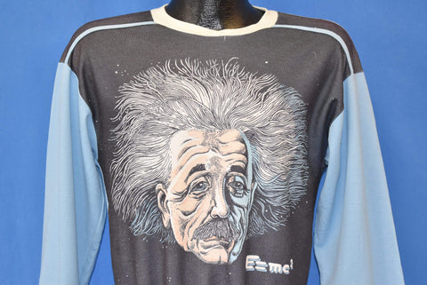 70s Albert Einstein E=mc2 Long Sleeve Polyester t-shirt Medium