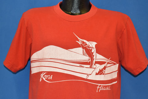 80s Hawaii Marlin Fishing Kona Poly Tee t-shirt Large