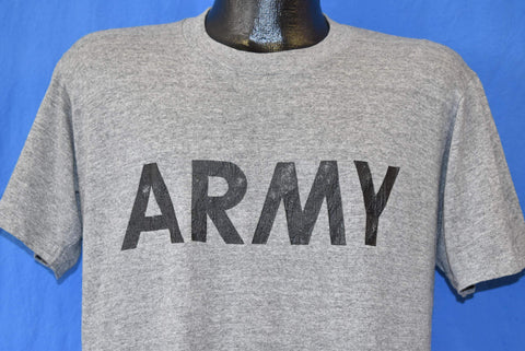 80s US Army Heathered Gray Rayon Tri Blend t-shirt Large
