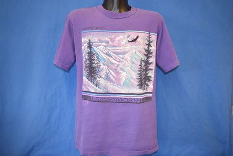 90s Leavenworth Washington Snow Mountains t-shirt Medium