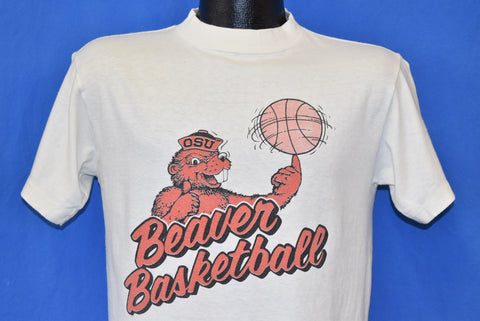 80s Oregon State Beavers Basketball t-shirt Medium