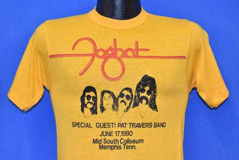 80s Foghat Pat Travers Band June 1980 t-shirt Small