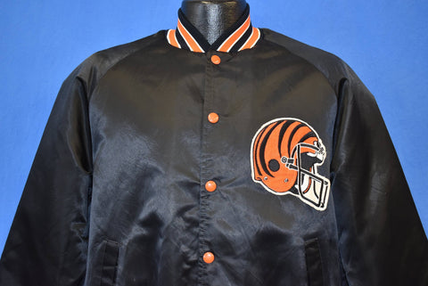 80s Cincinnati Bengals Satin Football Jacket Medium
