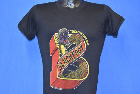 80s Blackfoot Tomcattin' Tour 1980 t-shirt Extra Small