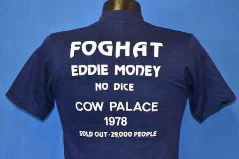 70s Foghat Eddie Money No Dice Cow Palace 1978 t-shirt Small