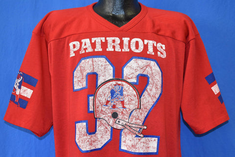 80s New England Patriots #32 Craig James Jersey Extra Large